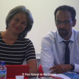 Séance de travail entre le Président du Parc, Louis BOUTRIN et la Présidente du CMT, Karine MOUSSEAU