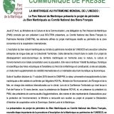 CP La Martinique au Patrimoine Mondial UNESCO