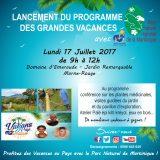 Lancement du Programme des vacances 2017 du PNM