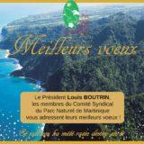 Louis BOUTRIN, président, le Conseil Syndical et les agents du PNM vous souhaitent leurs meilleurs voeux