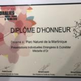 Médaille d'Or ET Prix du Public pour la Martinique aux Floralies Internationales de Nantes