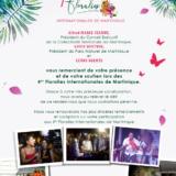 Remerciements pour les 4emes Floralies Internationales de Martinique