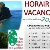HORAIRES VACANCES 2021 au PNRM